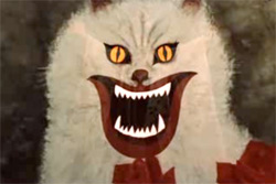 hausu killer lampshade crazy cat face
