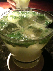 jalapeno mojito at temple bar
